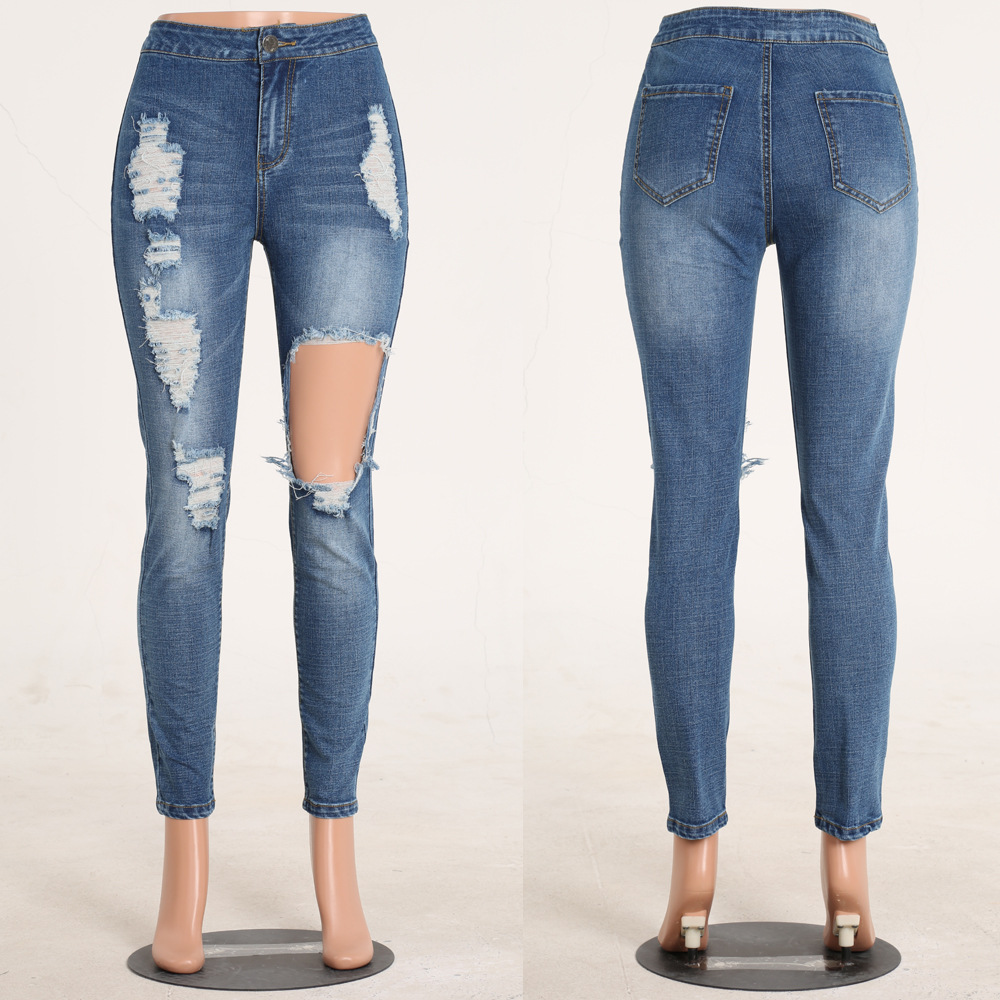 Hot sale customize stock women jeans china negotiate price