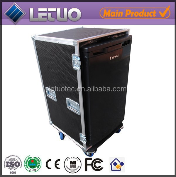 LT-FC167 aluminum ata road flight case removable front fridge road case