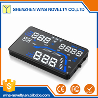 Display local time 5.5 inch cars hud navigation heads up gps