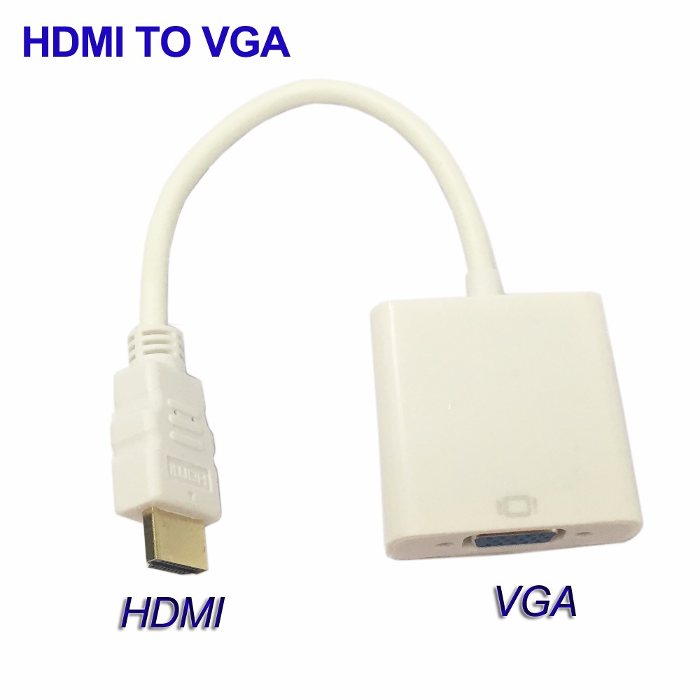PC DVD HDTV TV Converter Adapter 1080P HDMI To VGA Cable