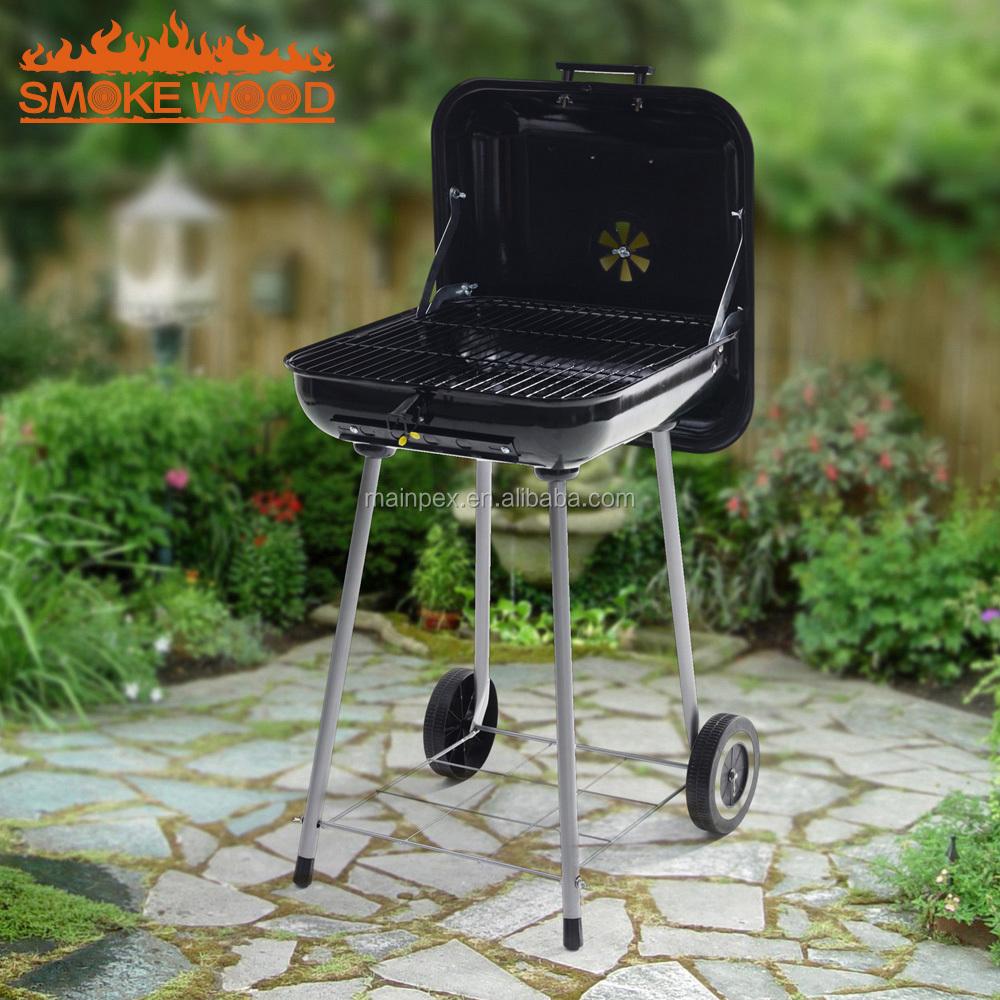 2017 Automne Nécessaire porte Principale grill conception Bouilloire Chariot Portable barbecue Charbon barbecue grill