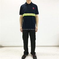 OEM service cotton jersy reflective tape men safety t shirt