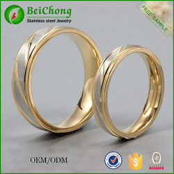 Stainless steel jewelry gold plated ring models