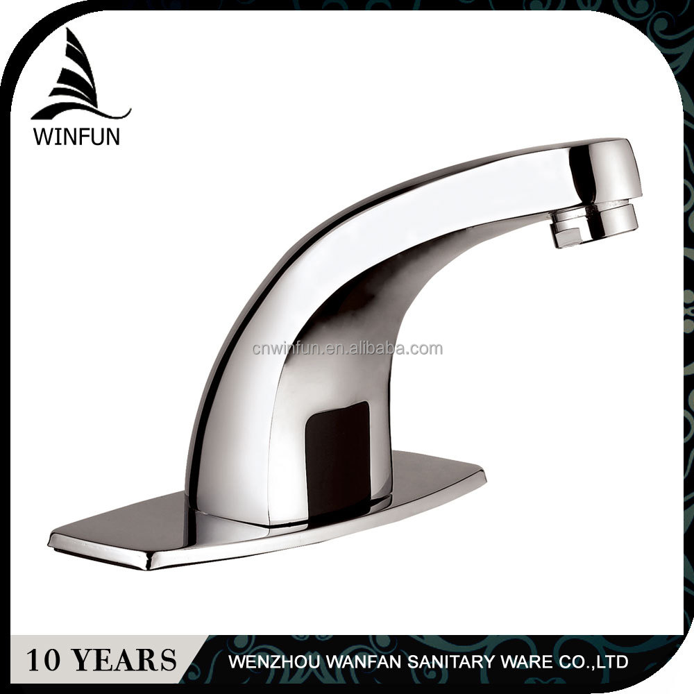 Wash basin shut off automatic sensor faucet