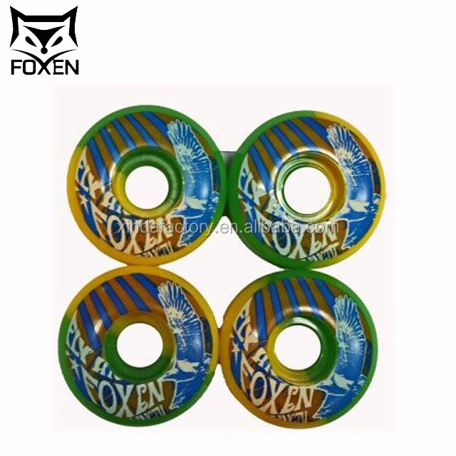 Customized logo can load100kgs Loading free printing skateboard wheels