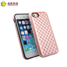 Diamond crystal double layer tpu pc case for iphone 5 6 7 case mobile phone case