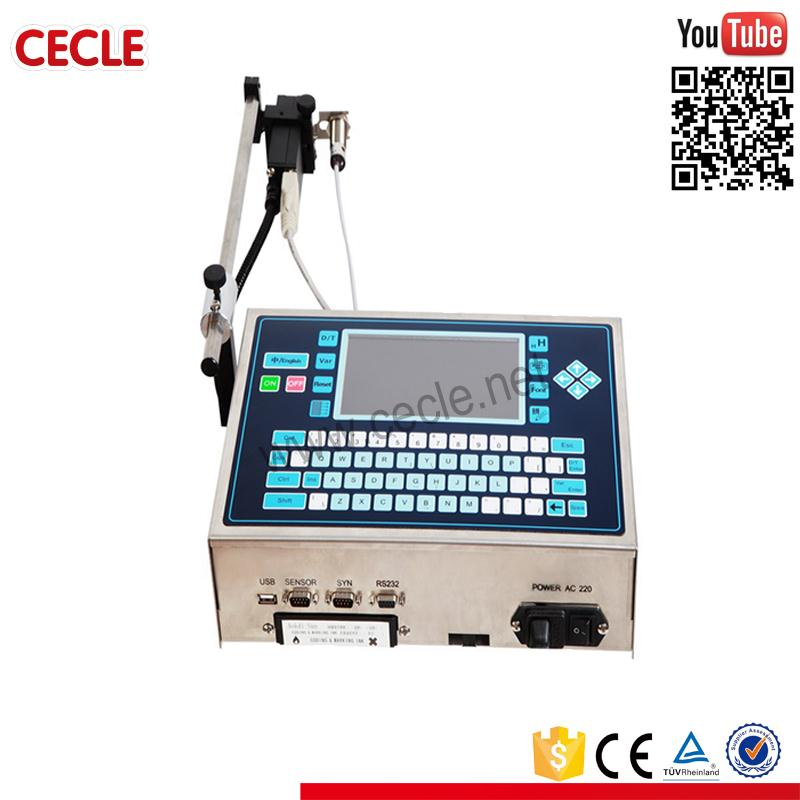 Stainless steel plastic bottle cap date printing machine