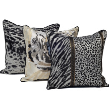 Fashion Tiger Pattern Pillow Case Sofa Replacement Seat Large Outdoor Cushion For Chaise Lounge