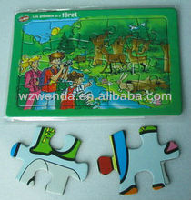 (2013 fty supplier) 3D cardboard paper fridge magnet jigsaw puzzle