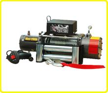 DC 12 volt power winch , electric winch 12000lb for truck , heavy duty 5 ton winch with remote