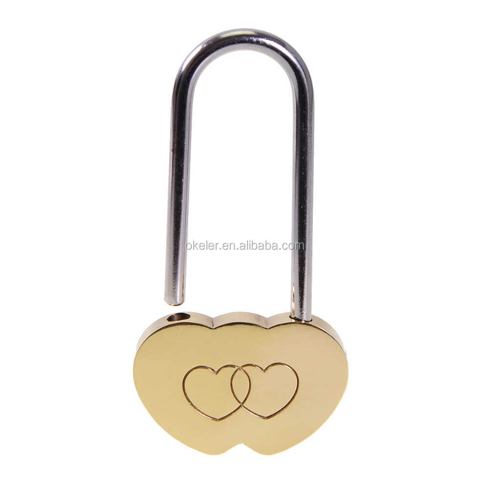 2017 Hot Sale Brass Double Heart Padlock, Wish Lock, Love Padlock