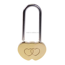 Hot Sale Brass Double Heart Padlock, Wish Lock, Love Padlock