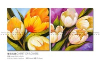 High Quality New Design Hand Painted Modern Abstract Decorative Flower Oil Painting on Canvas
