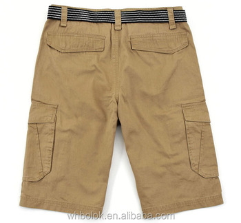Customized Mens short cargo pants with muli pockets cotton twill pants for men