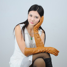 Latest party wear dresses for women leather ladies long gloves