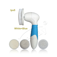 4 in 1 electric waterproof body facial cleansing brush