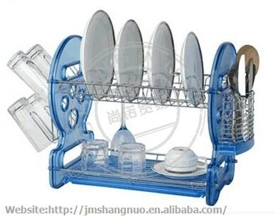 2 tiers wire iron Dish rack glass Holding Rack