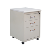 Round moveable pedestal paper storage file cabinet