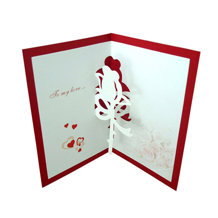 pop up  greeting card Printing,Blessing gift card Printing,Custom stamping holiday greeting printing