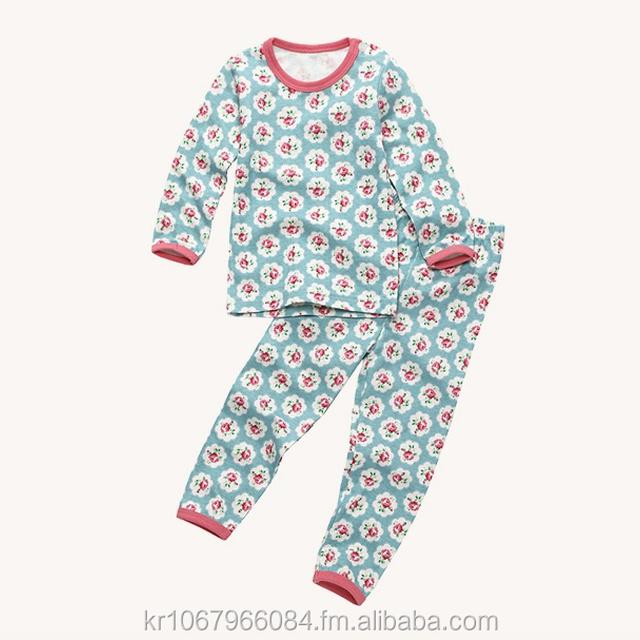 European style cotton 100% girl slim sleepwear pajamas kids underwear dorothy