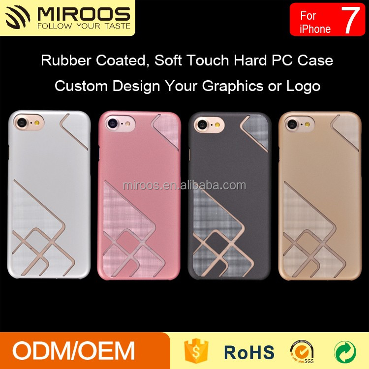 Wholesale customized mobile phone case hard pc back cover for iphone 7 7 plus case
