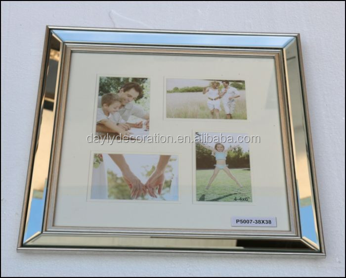 waterproof outdoor bulk glass picture frames shinning mirror multiple picture frame
