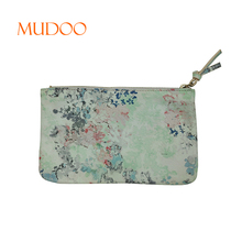 PU Print Waterproof Material Woman cosmetic Bag Makeup Bag Handbag With Metal Zipper