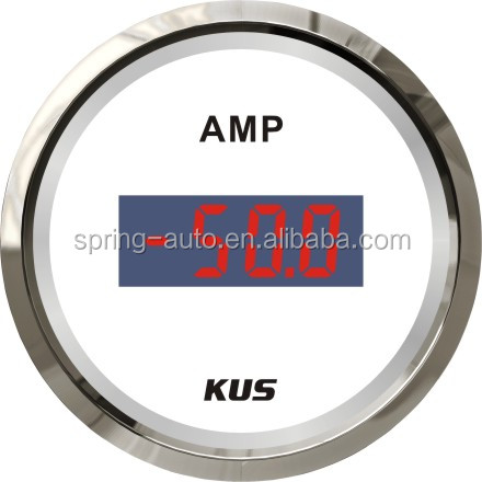 KUS Digital Ammeter Ampere Gauge with current pick-up unit +/-50A with backlight