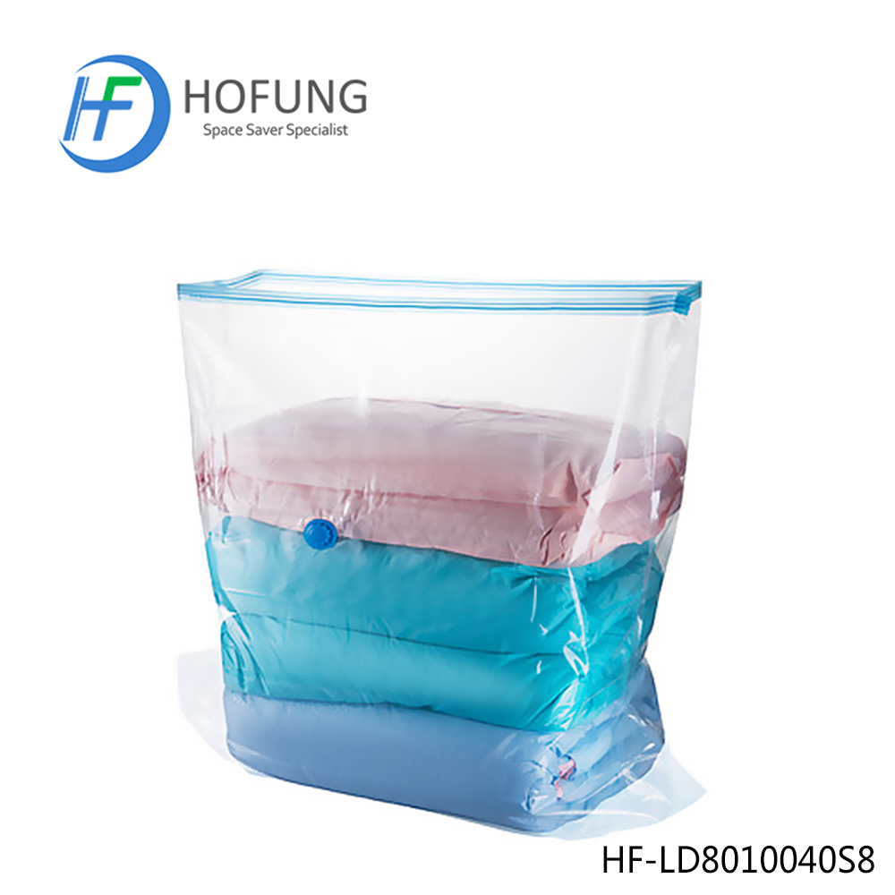 Plastic Cube Shape Vacuum Bag For Storage Bedding and Pillows