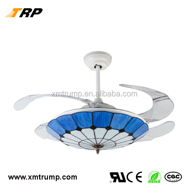 2017 Popular modern style fancy ceiling fan light with remote control/wall switch