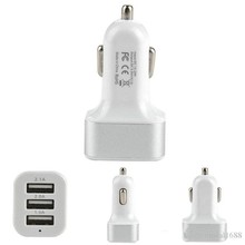 Free shipping Car Charger 3-port Rapid USB Car battery Chargers Cigarette Charger Adapter for for Apple iPhone 6 Plus/6/5S/5/4S