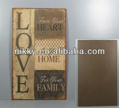 Vintage and shabby chic home decoration, wooden plaque with competitive price, good saying words home decor wholesale