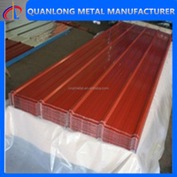 Red Color Metal Roof Tile