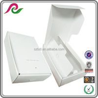 White paper box with foil white coated paper box packaging