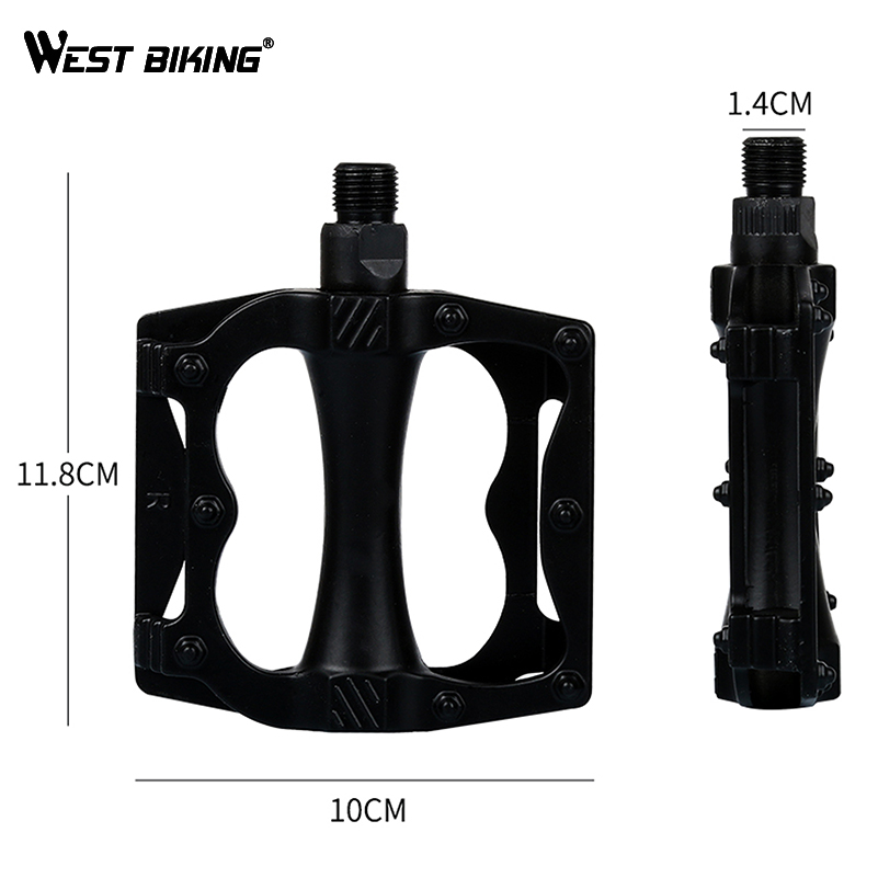 WEST BIKING Aluminum Alloy Cycling Bicycle Pedals Road Mountain Hollow Anti-slip Durable Bearing Mountain Exercise Pedal Bicycle