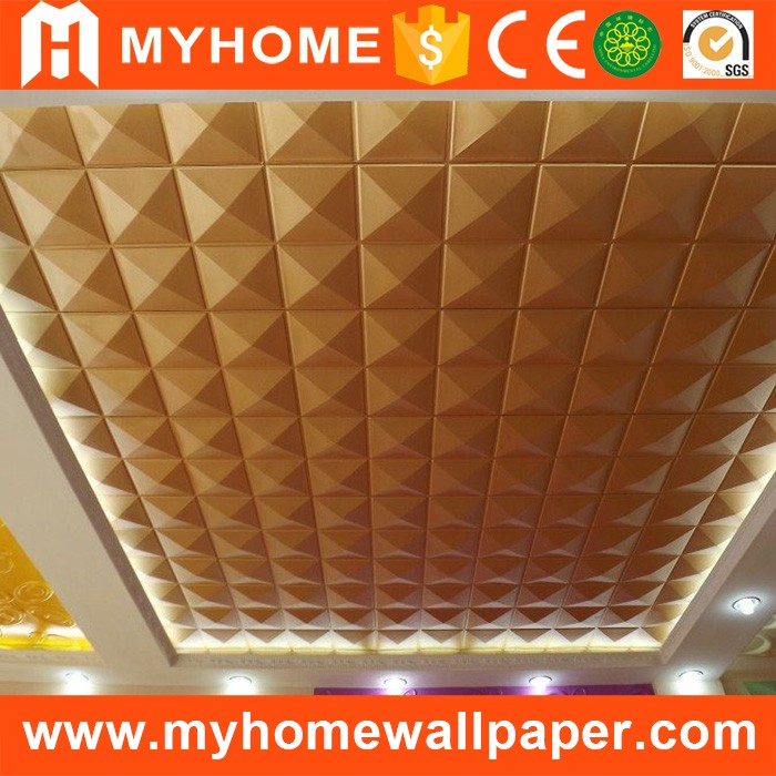 Restaurant interior decoration new materials PVC wall covering panels for sale