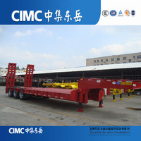 High Quality CIMC Low Bed Truck Trailer China Gooseneck Horse Trailer