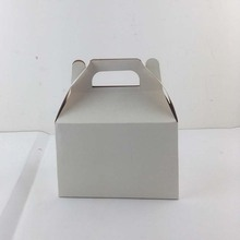 Wax Coated White Bread Cardboard Custom Wholesale Gable Box