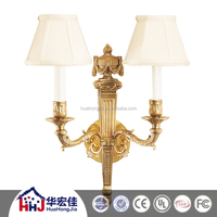 Victoria 2 Lamp Antique Brass copper decorative Wall Light For Bedroom, hotel Brass Sconce of Candle Shaped Lights