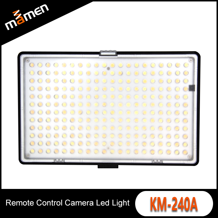 Ultra Slim LCD Display Camera Led Video Light 240 Led Two Color Temperature ABS Portable Photographic Studio Film Shooting Light