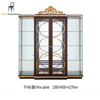 Large Big glass cabinet living decoration cabinet kitchen cabinet luxury style