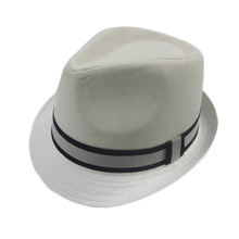 Hats manufacture custom design 100% cotton fedora panama paper straw hat with paper brim