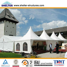 Easy to install aluminum structure glass wall Pagoda tent