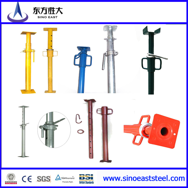 Adjustable formwork steel shoring props scaffold manufacturer fron tianjin China sleeve shoring props painted galvanized