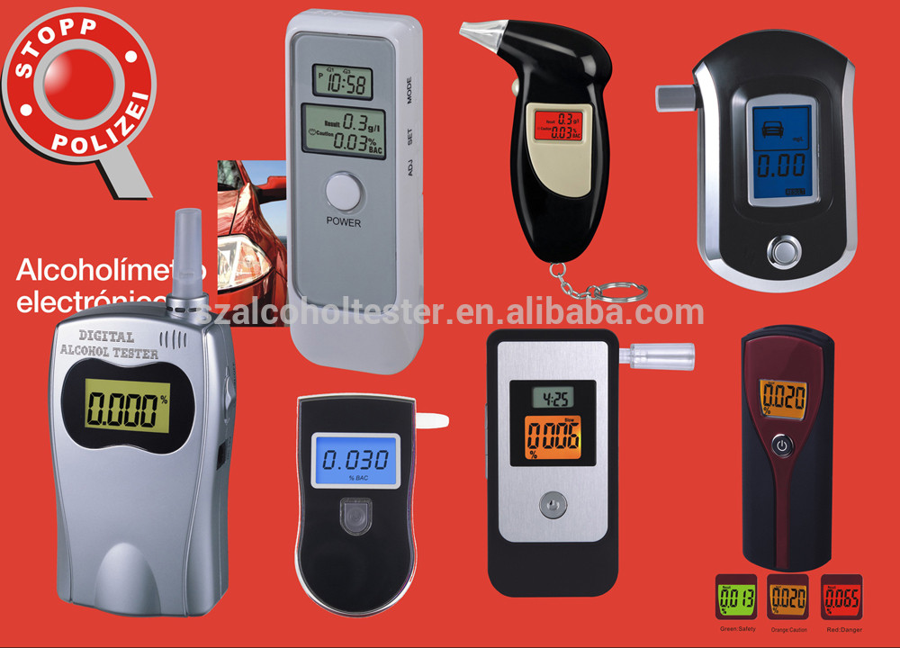 breath alcohol tester with memory function Digital LCD Breathalyser