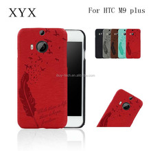 New design pu leather cover painting case for htc m9 plus back cover protective case