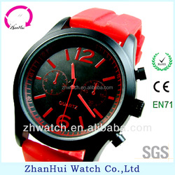 Silicone strap fashion CE/Rohs unisex watch