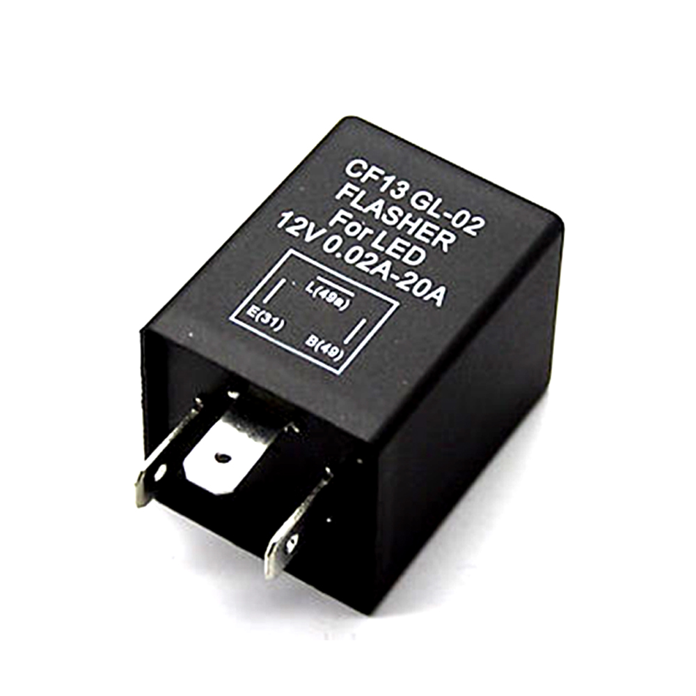 Modulo rel/è a lampeggio elettronico 3-pin CF13 CF-13 Fix LED Indicatore di direzione a luce lampo veloce per moto 12V JL-02 lampeggiatore per Led