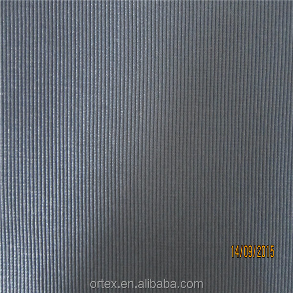 heave weight polyester spun yarn jersey elastane 2*2 rib fabric