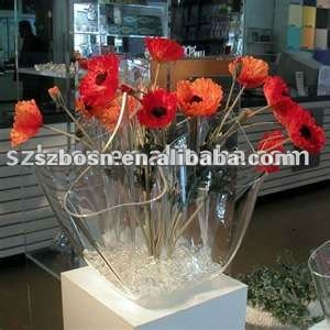 Acrylic Flower Holder & Acrylic Flower Display Rack & Lucite Stand